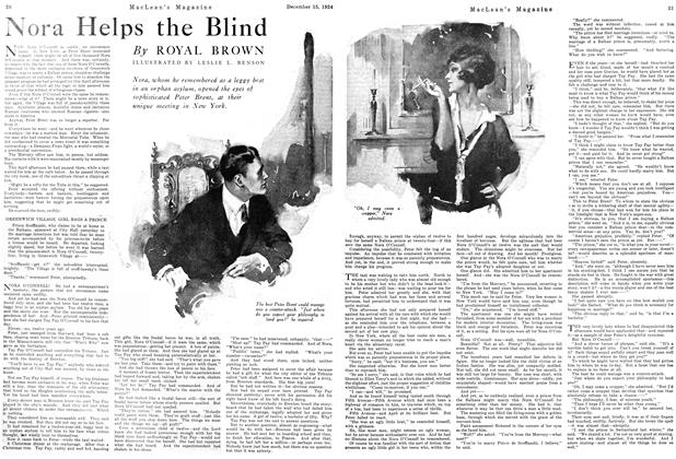 Article Preview: Nora Helps the Blind, December 1924 | Maclean's