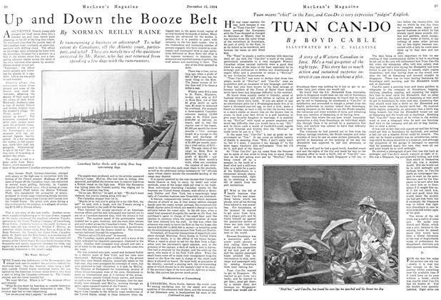 Article Preview: Up and Down the Booze Belt, December 1924 | Maclean's