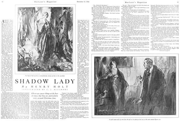 Article Preview: SHADOW LADY, December 1924 | Maclean's