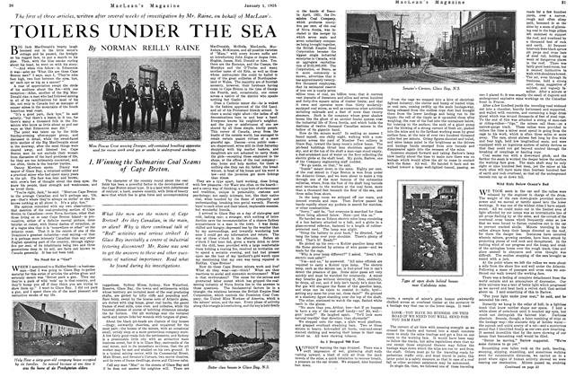 Article Preview: TOILERS UNDER THE SEA, January 1925 | Maclean's