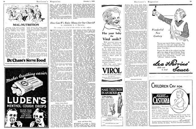 Article Preview: How Can We Raise Money for Our Church?, January 1925 | Maclean's