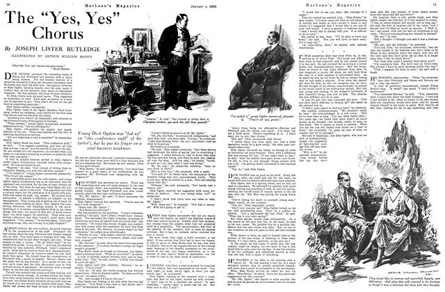 "Article Preview: The ""Yes, Yes"" Chorus, January 1925 