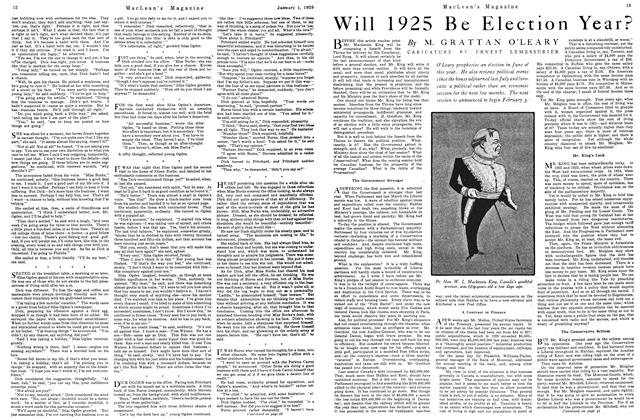 Article Preview: Will 1925 Be Election Year?, January 1925 | Maclean's
