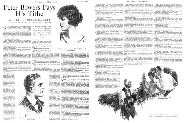 Article Preview: Peter Bowers Pays His Tithe, January 1925 | Maclean's