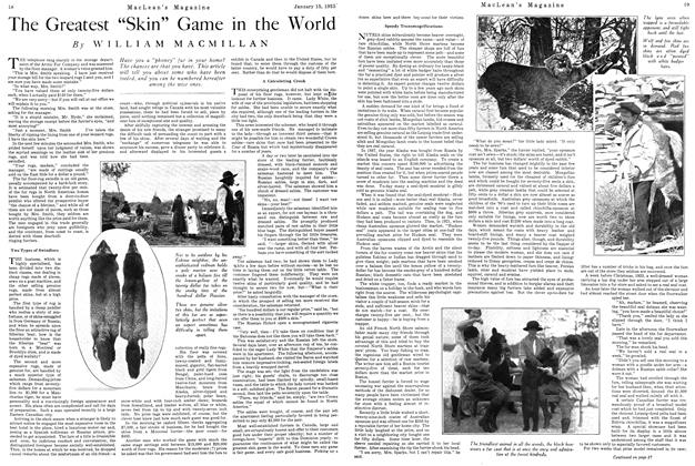 "Article Preview: The Greatest ""Skin"" Game in the World, January 1925 