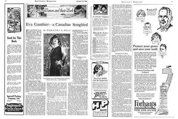 Article Preview: Eva Gauthier—a Canadian Songbird, January 1925 | Maclean's
