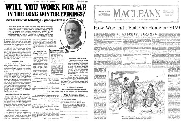 Article Preview: How Wife and I Built Our Home for $4.90, January 1925 | Maclean's