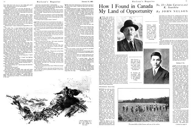 Article Preview: How I Found in Canada My Land of Opportunity, January 1925 | Maclean's