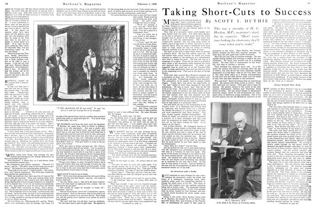 Article Preview: Taking Short-Cuts to Success, February 1925 | Maclean's