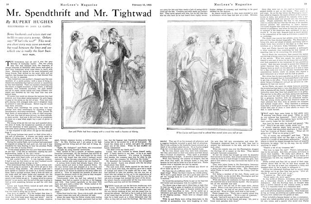 Article Preview: Mr. Spendthrift and Mr. Tightwad, February 1925 | Maclean's