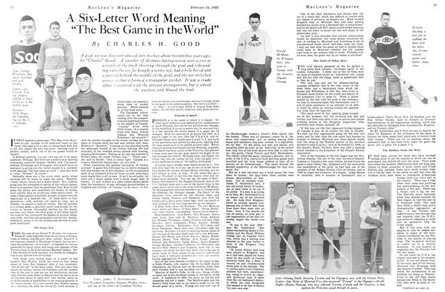 """Article Preview: A Six-Letter Word Meaning """"The Best Game in the World"""", February 1925 