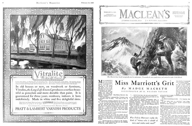 Article Preview: Miss Marriott's Grit, February 1925 | Maclean's