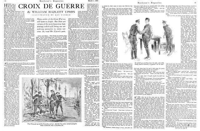 Article Preview: CROIX DE GUERRE, March 1925 | Maclean's