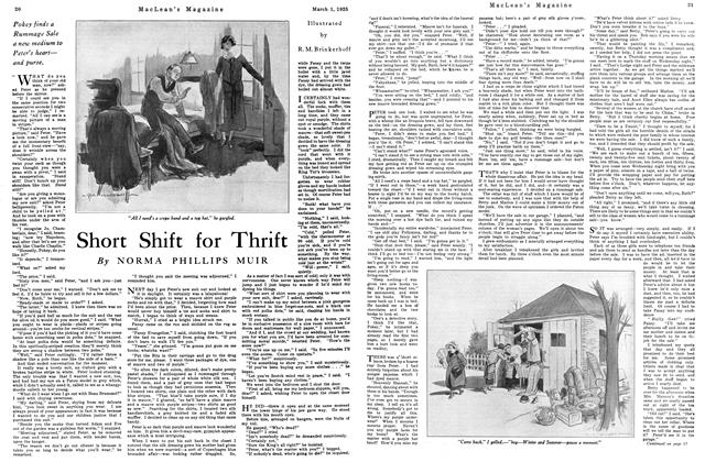 Article Preview: Short Shift for Thrift, March 1925 | Maclean's