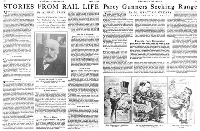 Article Preview: Party Gunners Seeking Range, March 1925 | Maclean's
