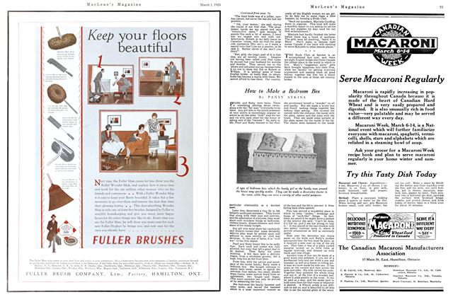 Article Preview: How to Make a Bedroom Box, March 1925 | Maclean's