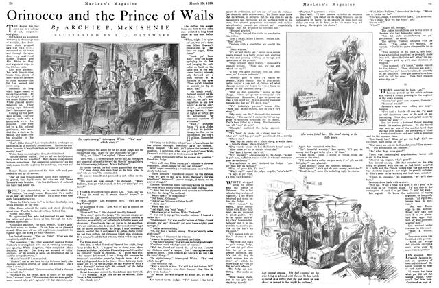 Article Preview: Orinocco and the Prince of Wails, March 1925 | Maclean's