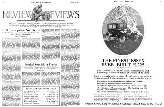 Article Preview: U. S. Participation Not Actual, March 1925 | Maclean's