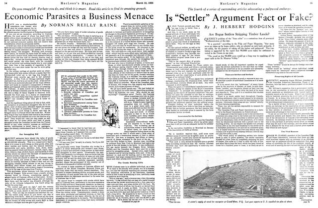 "Article Preview: Is ""Settler"" Argument Fact or Fake?, March 1925 