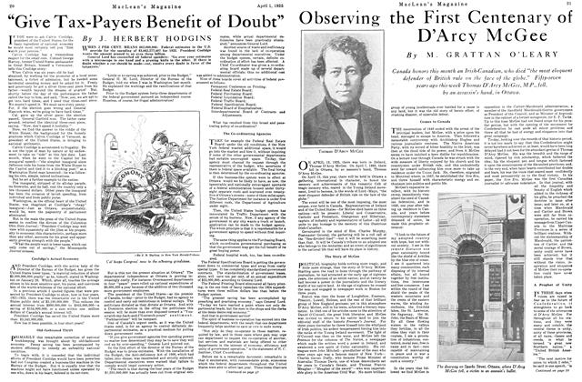 "Article Preview: ""Give Tax-Payers Benefit of Doubt"", April 1925 