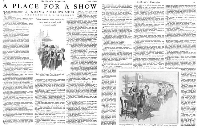 Article Preview: A PLACE FOR A SHOW, April 1925 | Maclean's