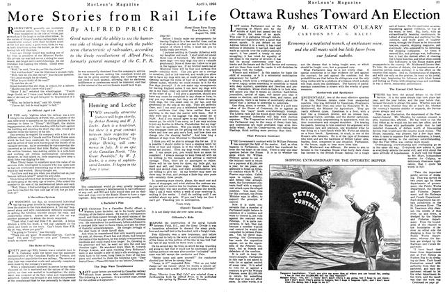 Article Preview: Ottawa Rushes Toward An Election, April 1925 | Maclean's