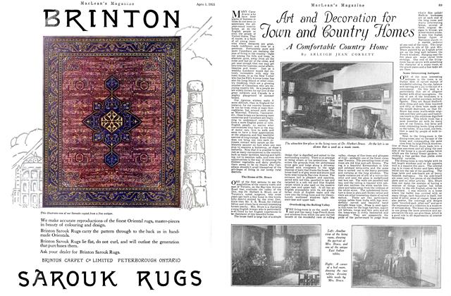 Article Preview: Art and Decoration for Town and Country Homes, April 1925 | Maclean's