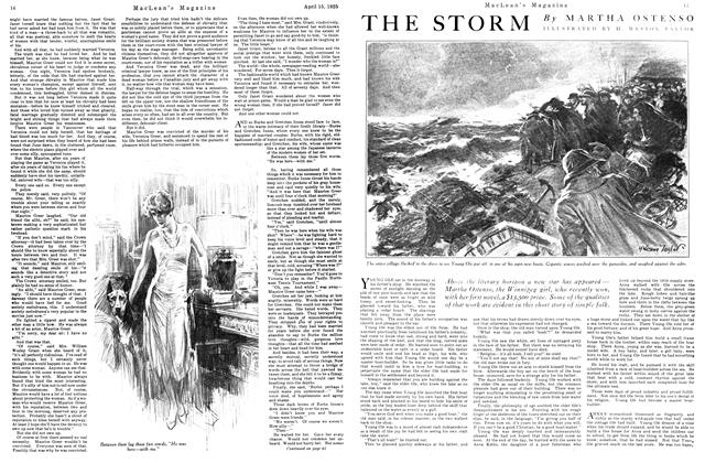 Article Preview: THE STORM, April 1925 | Maclean's