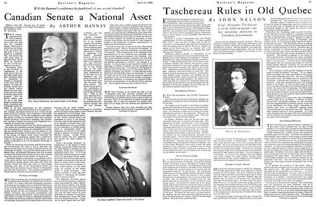 Article Preview: Taschereau Rules in Old Quebec, April 1925 | Maclean's