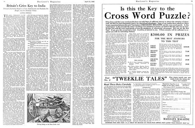 Article Preview: Britain's Grim Key to India, April 1925 | Maclean's