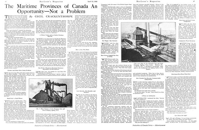 Article Preview: The Maritime Provinces of Canada An Opportunity—Not a Problem, April 1925 | Maclean's