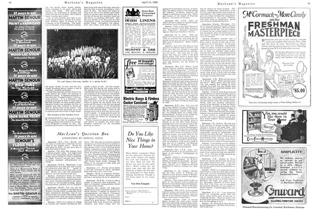 Article Preview: MacLean's Question Box, April 1925 | Maclean's