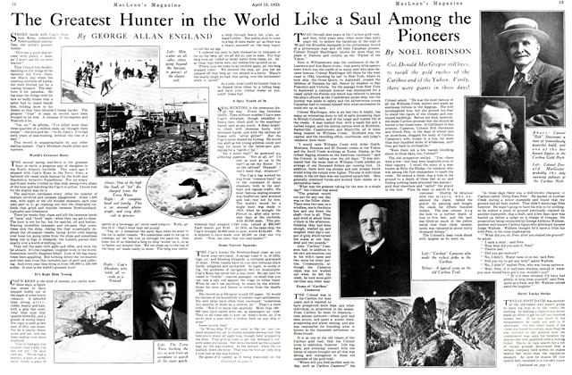 Article Preview: Like a Saul Among the Pioneers, April 1925 | Maclean's