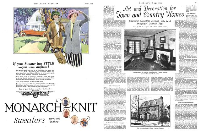 Article Preview: Art and Decoration for Town and Country Homes, May 1925 | Maclean's