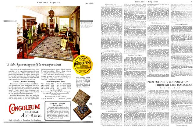 Article Preview: PROTECTING A CORPORATION THROUGH LIFE INSURANCE, May 1925   Maclean's
