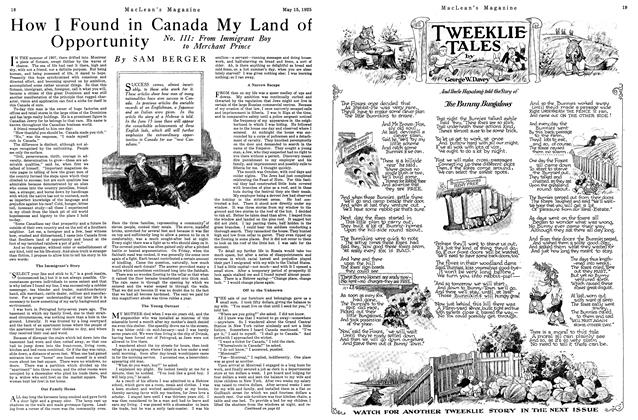 Article Preview: How I Found in Canada My Land of Opportunity, May 1925 | Maclean's
