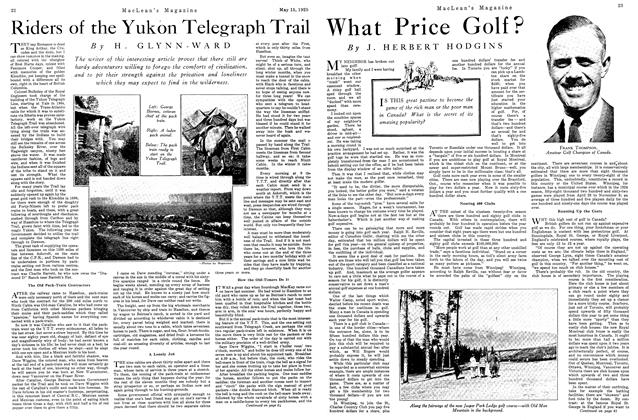 Article Preview: What Price Golf?, May 1925 | Maclean's