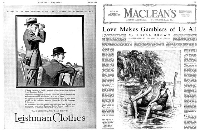 Article Preview: Love Makes Gamblers of Us All, May 1925 | Maclean's