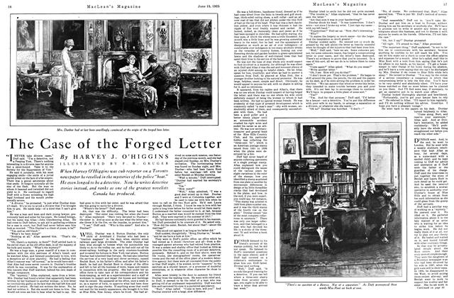 Article Preview: The Case of the Forged Letter, June 1925 | Maclean's