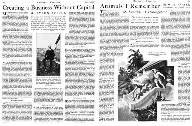 Article Preview: Animals I Remember, June 1925 | Maclean's