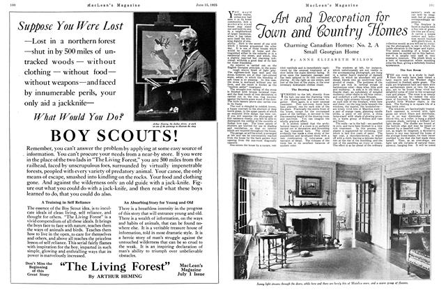 Article Preview: Art and Decoration for Town and Country Homes, June 1925 | Maclean's