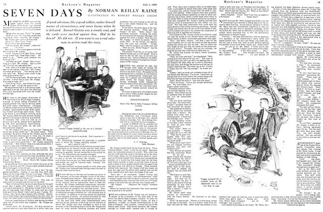 Article Preview: SEVEN DAYS, July 1925 | Maclean's