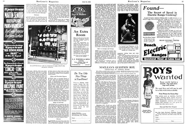 Article Preview: MACLEAN'S QUESTION BOX, July 1925 | Maclean's