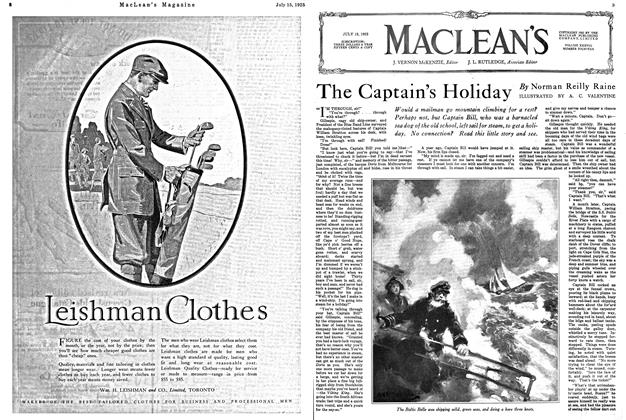Article Preview: The Captain's Holiday, July 1925 | Maclean's