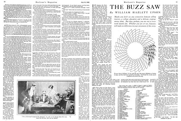 Article Preview: THE BUZZ SAW, July 1925 | Maclean's