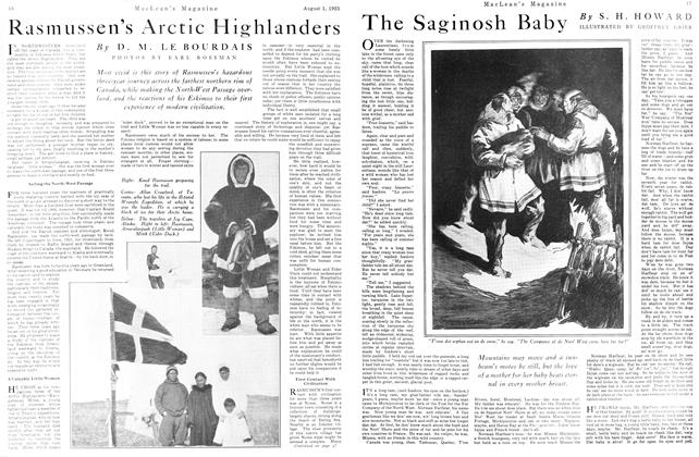 Article Preview: The Saginosh Baby, August 1925 | Maclean's
