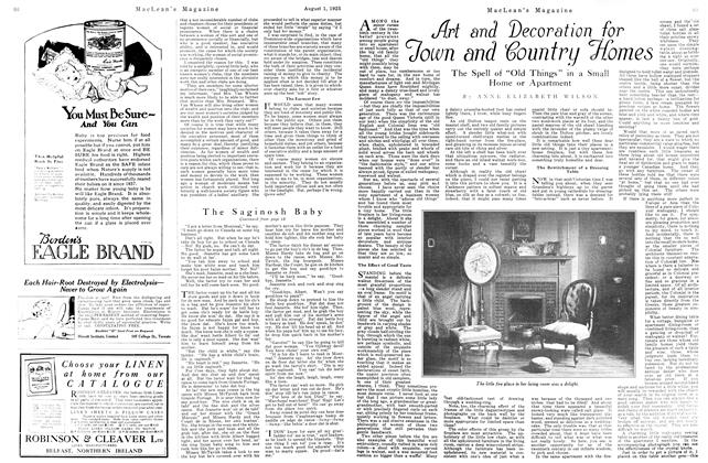 Article Preview: Art and Decoration for Town and Country Homes, August 1925   Maclean's