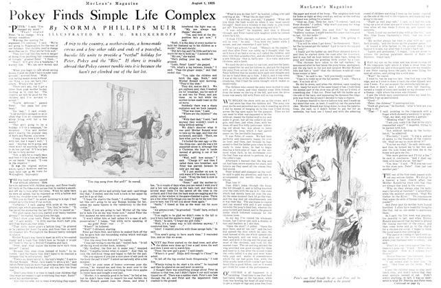 Article Preview: Pokey Finds Simple Life Complex, August 1925 | Maclean's