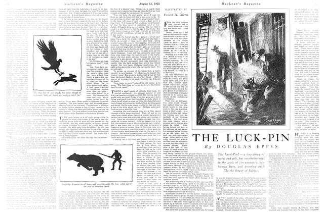 Article Preview: THE LUCK-PIN, August 1925 | Maclean's