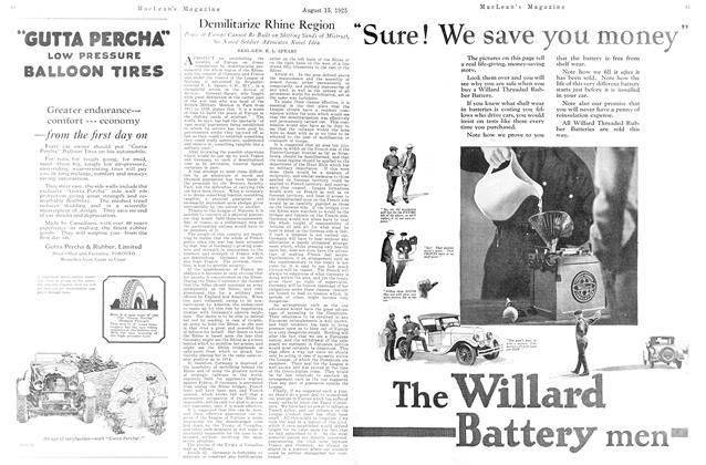 Article Preview: Demilitarize Rhine Region, August 1925 | Maclean's